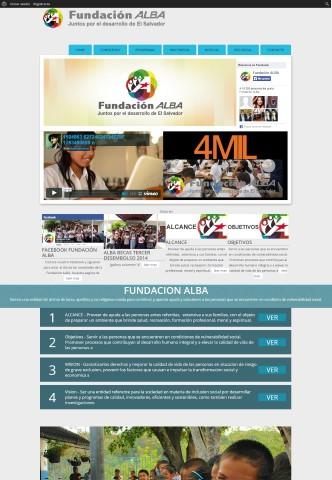 Diseño de paginas web Guatemala  Fundacion Alba El Salvador.