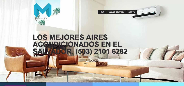 Diseño de paginas web Guatemala  MITRA: construccion, arquitectura y climatizacion con aires acondicionados el salvador